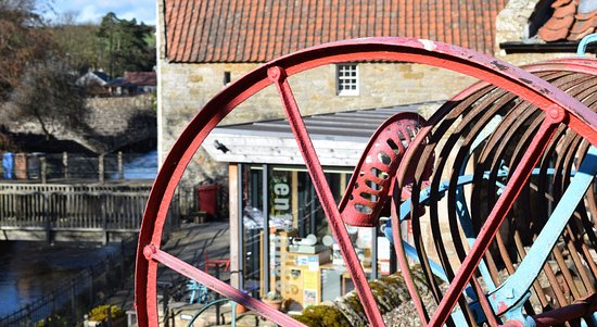 Ceres, UK: Farm machinery from a bygone age at Fife Folk Museum