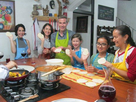 Jocotenango, Guatemala: Best loved activity: preparing tortillas.