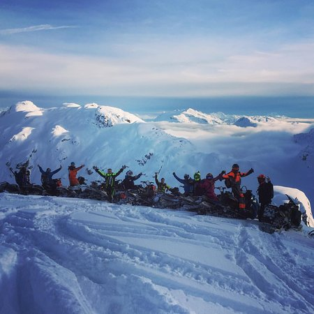 Pemberton, Kanada: Solid crew on top of the world.