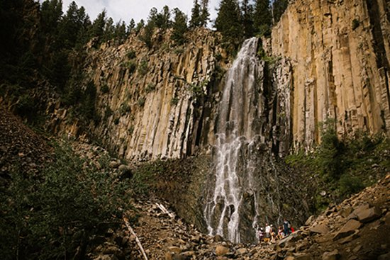 Waterfall in Gallatin Canyon. Photo: Only in Bozeman