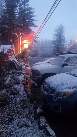 It is rare for it to snow in Miranda and it was beautiful