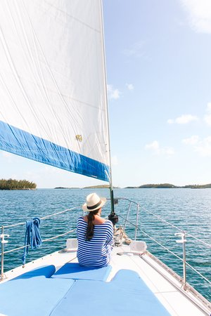 Sail Bermuda Private Charters: The bow of Shekynah