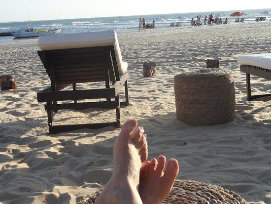 Casa na Praia: Como disse. Na piscina com o pé na areia!!