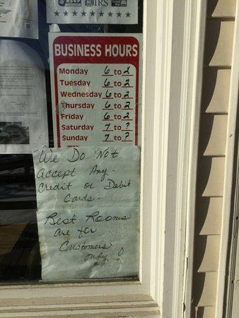 Elizabethtown, Estado de Nueva York: Hours