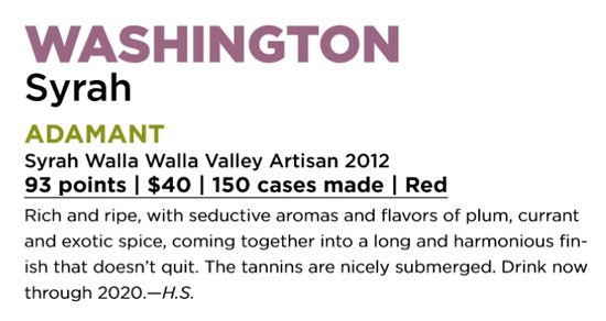 Walla Walla, WA: Award winning wines