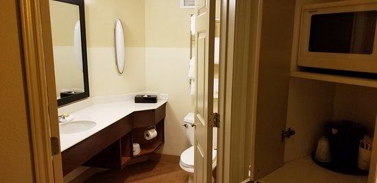 The Bathroom Had A Cute Double Door Picture Of La Quinta Inn