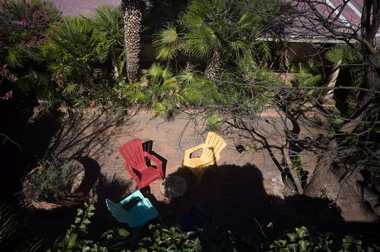 Nogales, AZ: View from above the enclosed courtyard
