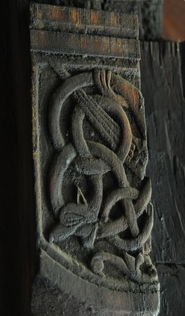 Urnes Stave Church. Carved detail.