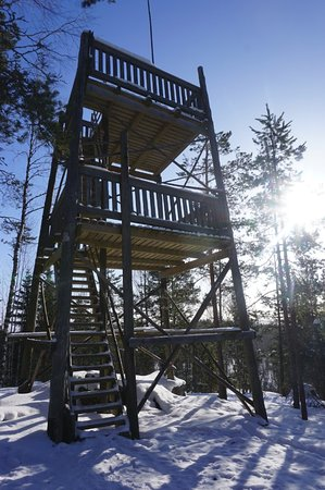 Linnansaari National Park: A wooden observation tower (address Porosalmentie 360)