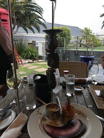Ostrich served a la Cafe Gannet