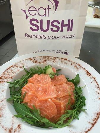Eat Sushi Garibaldi : Sashimi sur lit de roquette