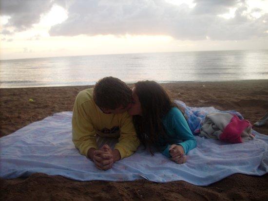Praia de Arambaré: amanhecer na praia