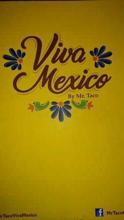 Viva Mexico: Menu cover.