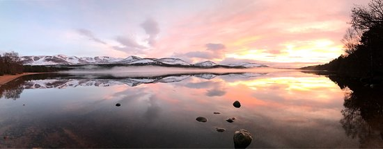 Loch Morlich on our last visit up to Aviemore this February.