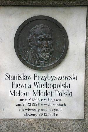 The monument of Stanislaw Przybyszewski