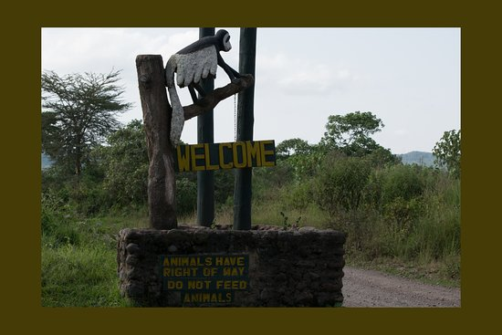 Arusha National Park Welcome Sign