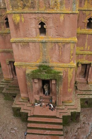 Lalibela, Αιθιοπία: The famous cross shaped church of St George