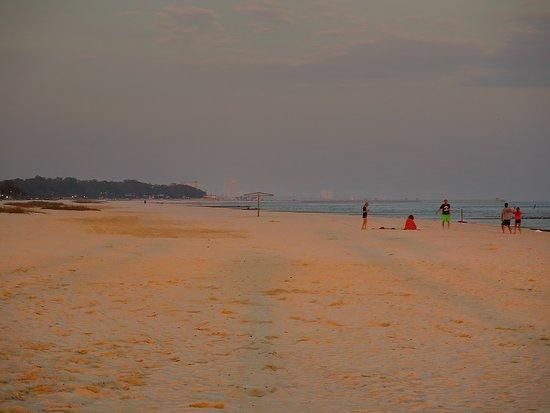Jones Park Gulfport Ms Sunset On From Crescent Beach