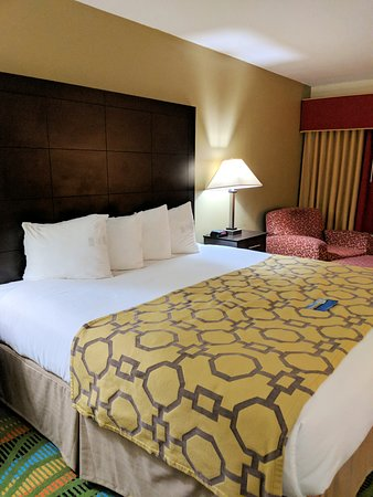Baymont by Wyndham Evansville North/Haubstadt: King sized bed.