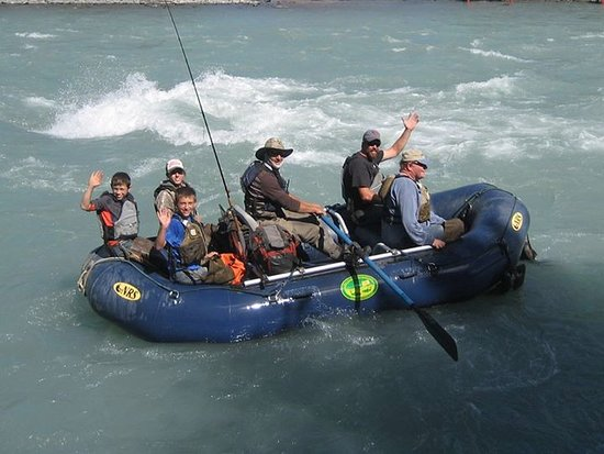 Copper Center, AK: Floating back to Salmon Grove camp on the Klutina River