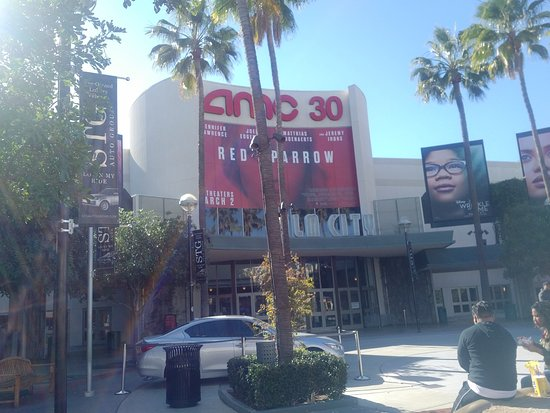Entrance to the AMC 30 Theaters in Orange, CA