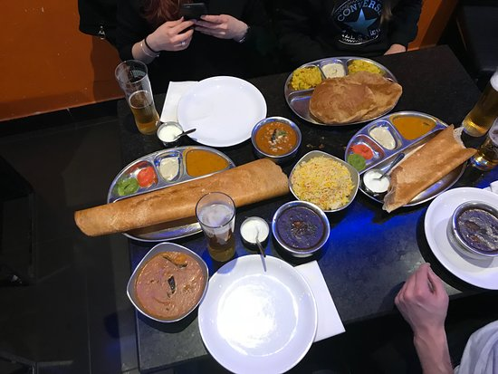 Dosa World: dosa and curry
