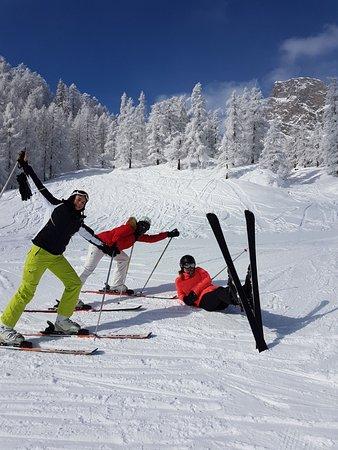 """Champorcher Ski Station: Détente lors de la descente """"Pistone"""" vers le village de Chardonney"""