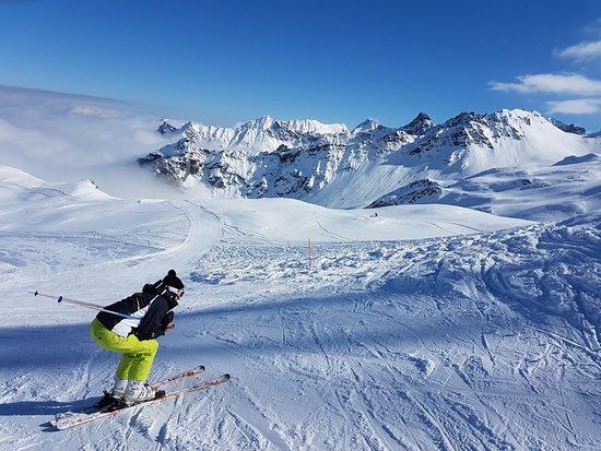 Champorcher Ski Station: Vers la grande combe, du haut de la Cimetta Rosa