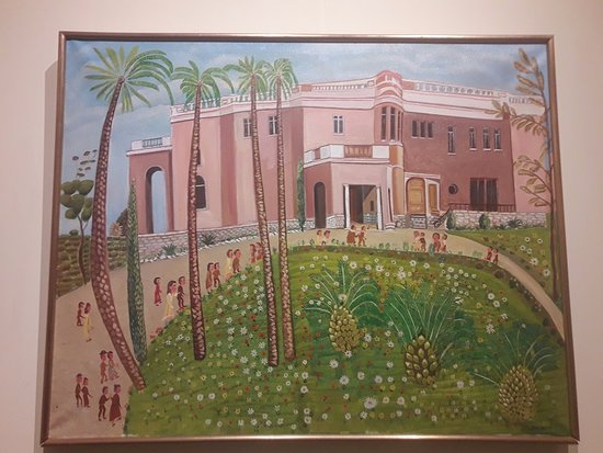 Musee International d'Art Naif Anatole-Jakovsky (Museum of Naive Art): toile représentant le musée