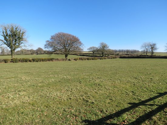Lydford, UK: View from hotel car park.