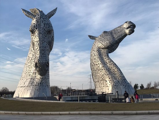 The Kelpies & The Helix: Amazing to see up close