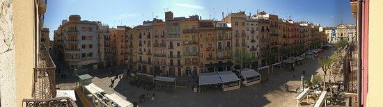 Hotel Placa de la Font : Panoramica desde el balcon