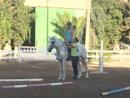 Riding Academy of Crete - Ippikos Riding Club: Riding class with Mariana