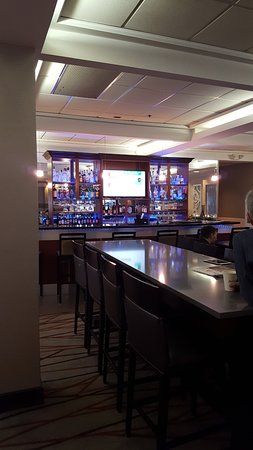Copley, OH: View of bar from dining area