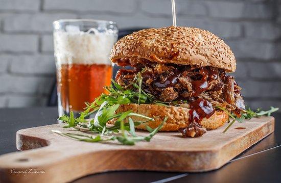 Burger Z Pieczona Karkowka Picture Of Restauracja Smacznego