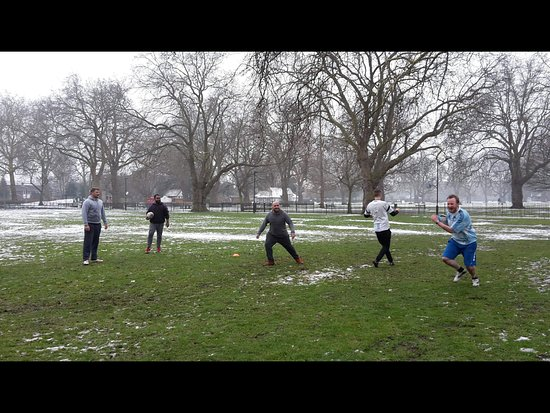 Kennington Park: Warming up on Saturday after the Beast from the East.
