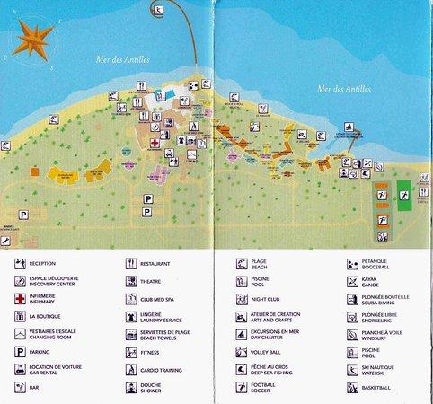 Club Med Les Boucaniers - Martinique: Resort map