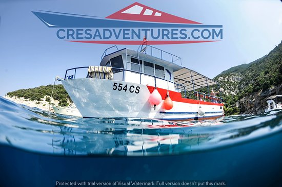 Cres, Kroasia: Our boat!