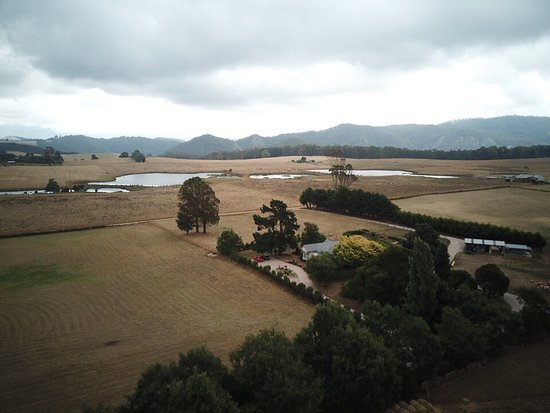 Barrington, Australia: View from the air with Mt Roland in the back ground