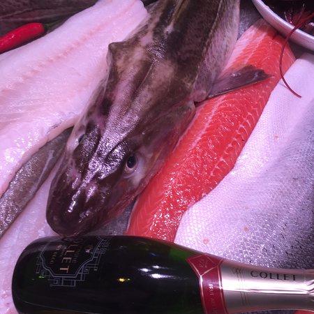 Als je lekker en verse vis wilt eten!