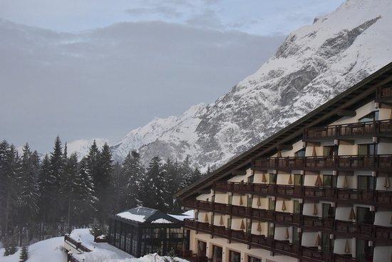 Telfs, Österrike: View in February from Hotel room
