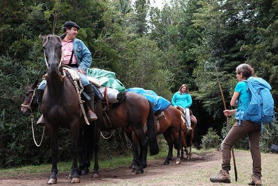 Patagonia Trails: Riders bringing provisions to the La Junta camping