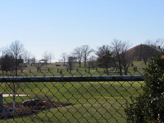 Miamisburg Mound: Picnic/playground area adjacent to the Mound.