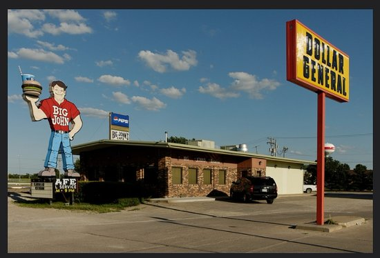 "Ainsworth, NE: The famous ""Big John burger"""