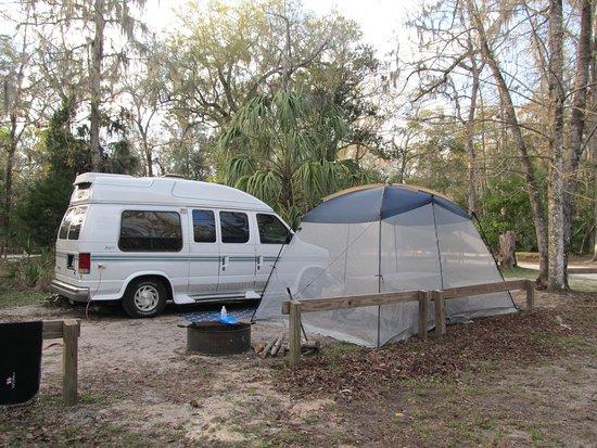 Chiefland, Флорида: camp site