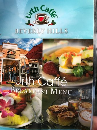 Urth Caffé : Menu Cover