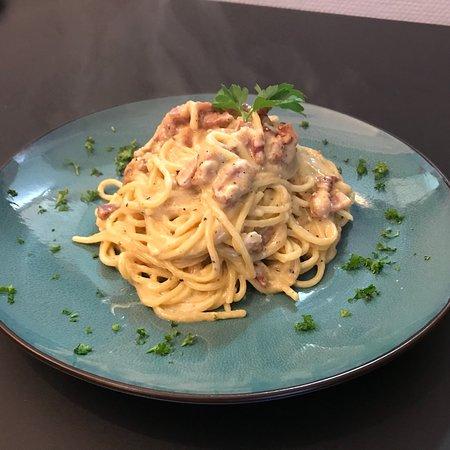 Dilbeek, Belgia: Spaghetti carbonara