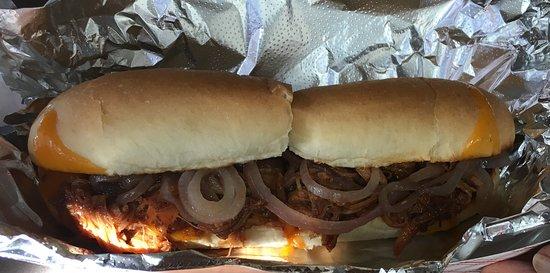 Nelson, WI: BBQ pork sandwich