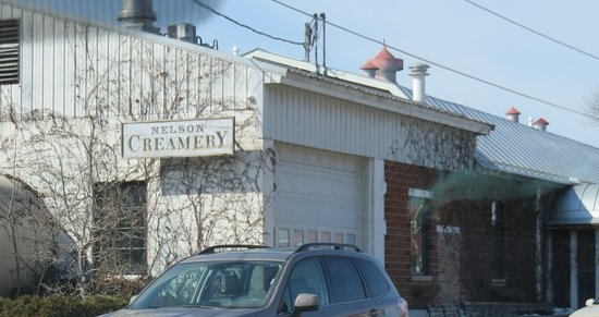 Nelson, WI: Original creamery building houses cheese/snacks store.
