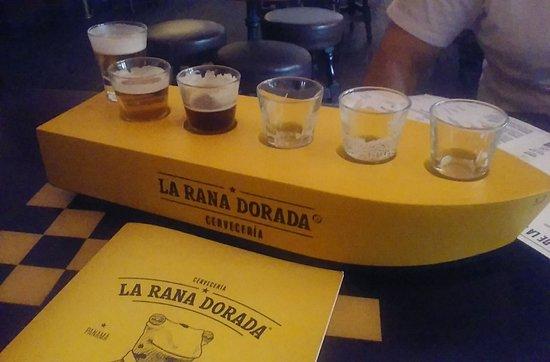 La Rana Dorada: Degustação